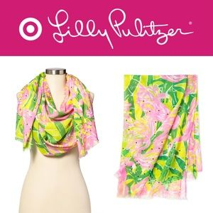 🎯🆕🧣 FAN DANCE Floral Printed Sequin Scarf LILLY